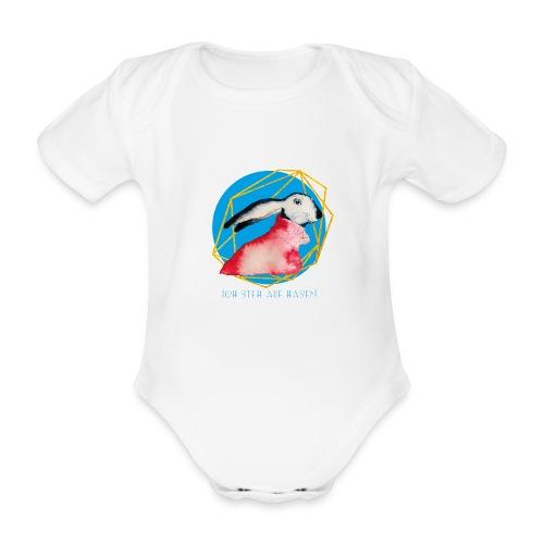 Niedlicher Osterhase mit Rolli - Baby Bio-Kurzarm-Body