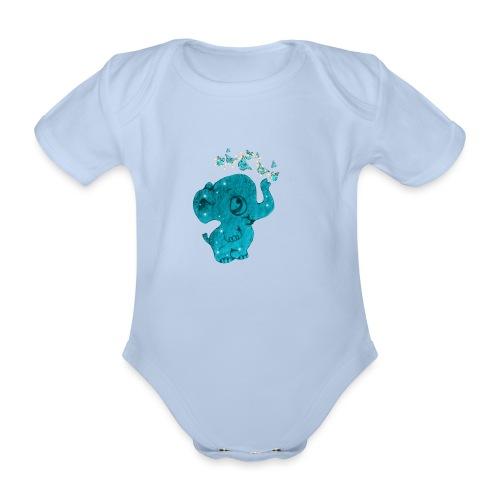 Elefante - Body ecologico per neonato a manica corta