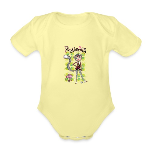 Pantherilly - Beat - Body ecologico per neonato a manica corta
