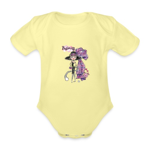 Pantherilly Tiffany - Body ecologico per neonato a manica corta
