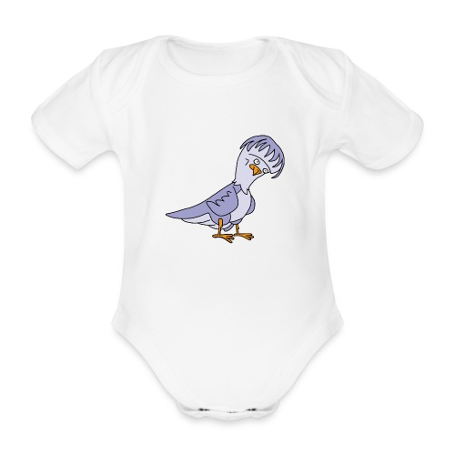 Taube von dodocomics - Baby Bio-Kurzarm-Body