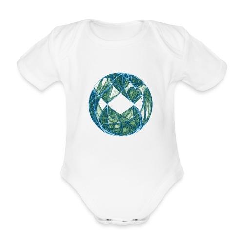 Harmony in the Ocean of Elements 446oce - Organic Short-sleeved Baby Bodysuit