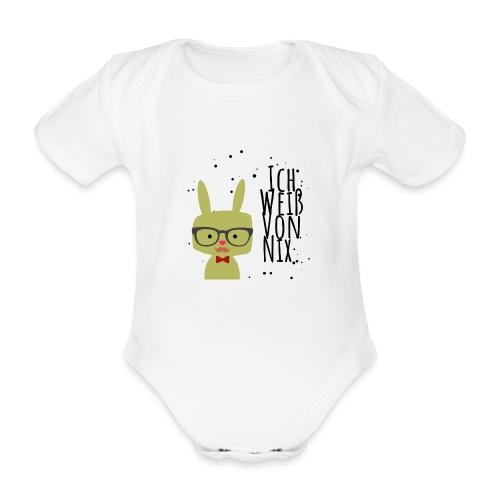Prof Hase weiss von nichts - Baby Bio-Kurzarm-Body