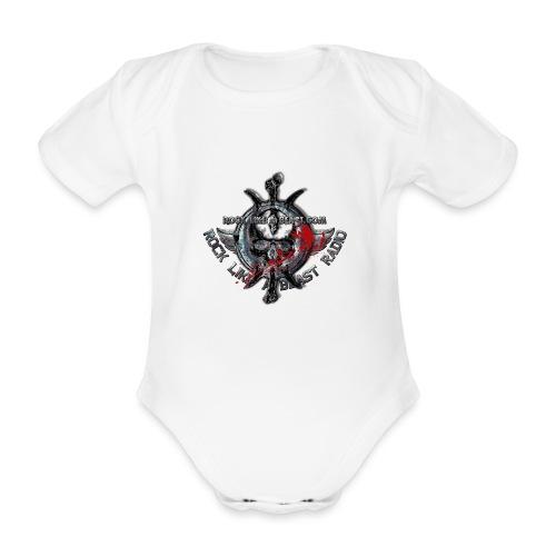 Blood Skull Logo - Ekologisk kortärmad babybody