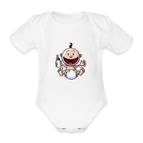 Das Baby lacht. - Baby Bio-Kurzarm-Body