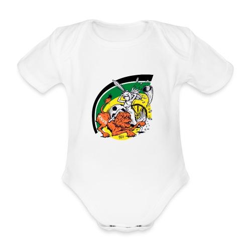 fortunaknvb - Baby bio-rompertje met korte mouwen