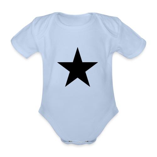 Ardrossan St.Pauli Black Star - Organic Short-sleeved Baby Bodysuit
