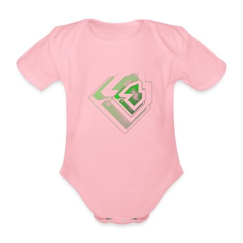 BRANDSHIRT LOGO GANGGREEN - Baby bio-rompertje met korte mouwen