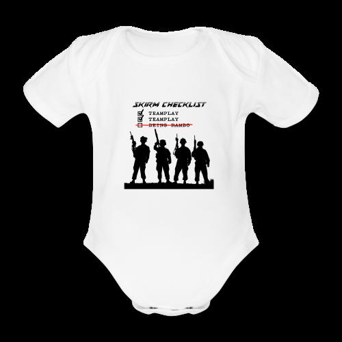 Skirm Checklist - Baby bio-rompertje met korte mouwen