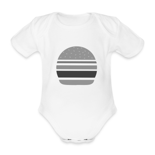Logo_panhamburger_gris - Body Bébé bio manches courtes