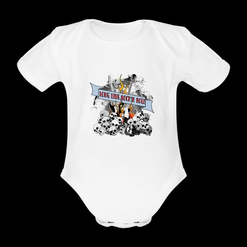 long live - Ekologisk kortärmad babybody