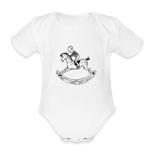 konik na biegunach - Ekologiczne body niemowlęce z krótkim rękawem