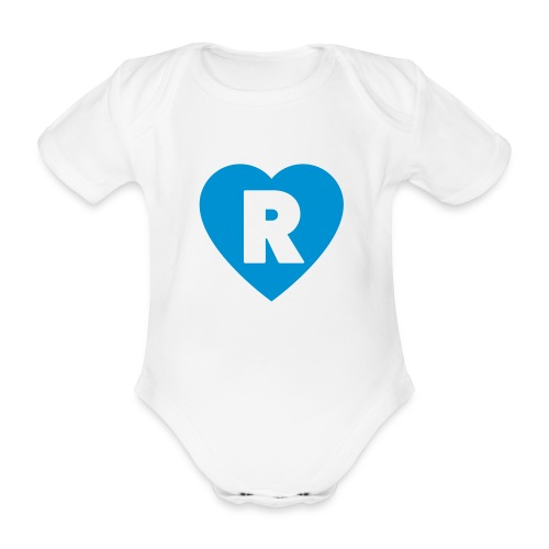 cuoRe - Body ecologico per neonato a manica corta