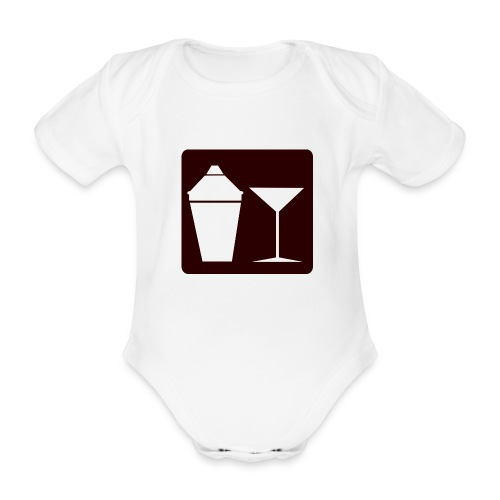 Alkohol - Baby Bio-Kurzarm-Body