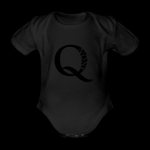 Q Anon Q-Anon Original Logo - Baby Bio-Kurzarm-Body