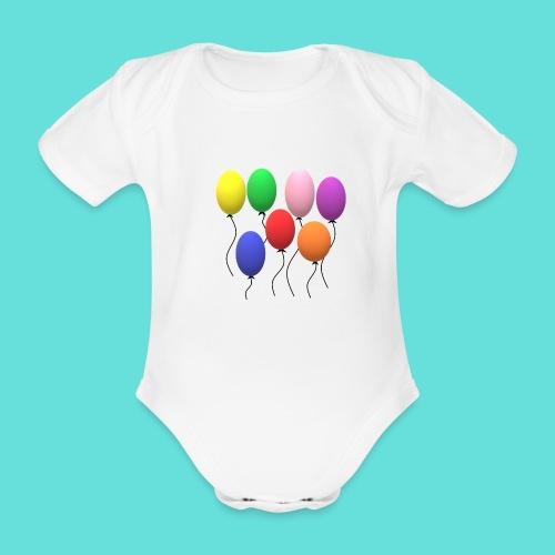 ballons - Body Bébé bio manches courtes