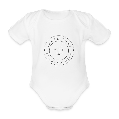 Carpe that f*cking diem - Organic Short-sleeved Baby Bodysuit