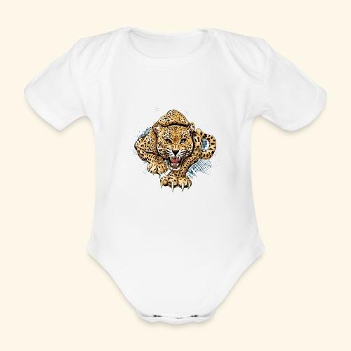 Leopardo KutuXa - Body orgánico de maga corta para bebé