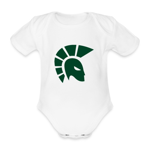 British Racing Green Centurion - Organic Short-sleeved Baby Bodysuit