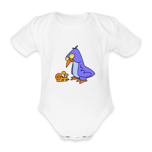 Schnecke und Vogel Nr 2 von dodocomics - Baby Bio-Kurzarm-Body