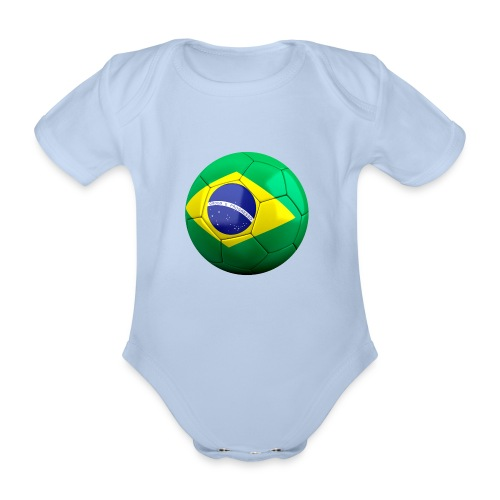Bola de futebol brasil - Organic Short-sleeved Baby Bodysuit