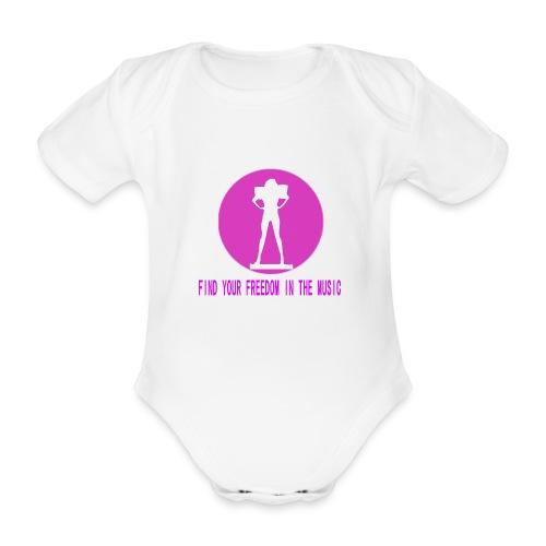 DANCE IN THE DARK unisex - Body orgánico de maga corta para bebé