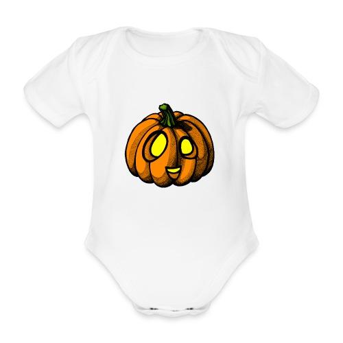 Pumpkin Halloween scribblesirii - Baby Bio-Kurzarm-Body