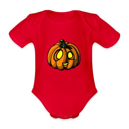 Pumpkin Halloween scribblesirii - Vauvan lyhythihainen luomu-body