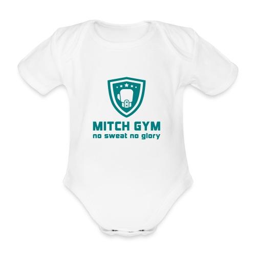Logo_Mitch_Gym edit - Baby bio-rompertje met korte mouwen