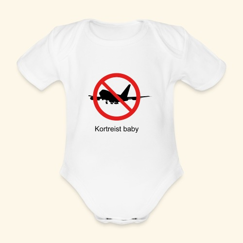 Short-lived baby - Organic Short-sleeved Baby Bodysuit