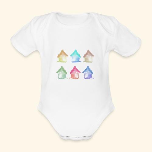 casette - Body ecologico per neonato a manica corta