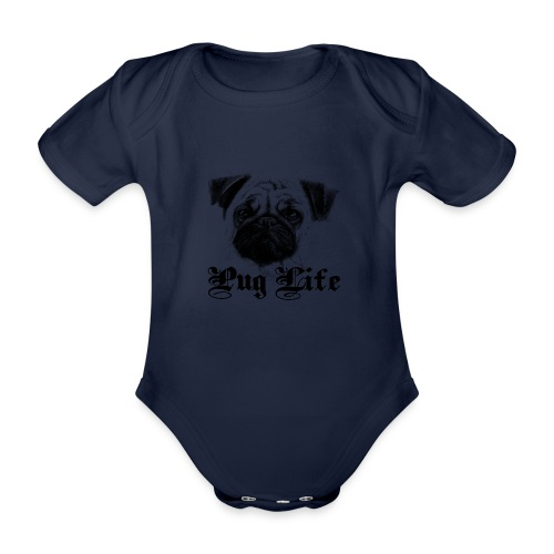 La vie de carlin - Body Bébé bio manches courtes