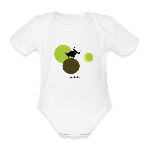 Unconventional zodiac :taurus - Body ecologico per neonato a manica corta