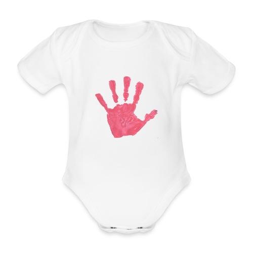 Hand - Ekologisk kortärmad babybody