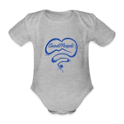 New Logo CuordiNapoli Blu - Body ecologico per neonato a manica corta