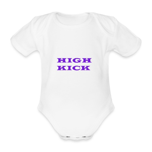 HIGH KICK HOODIE [LIMITED EDITION] - Organic Short-sleeved Baby Bodysuit