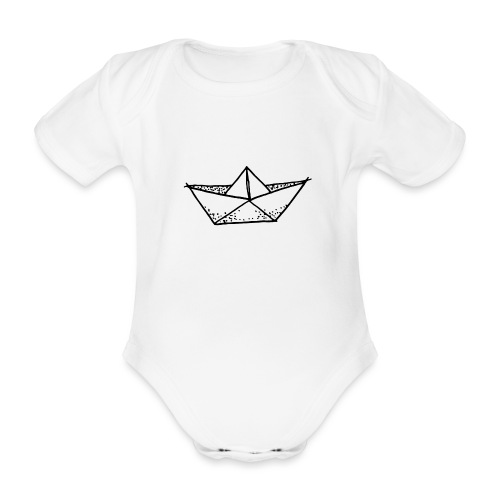 my tiny paper boat - Organic Short-sleeved Baby Bodysuit