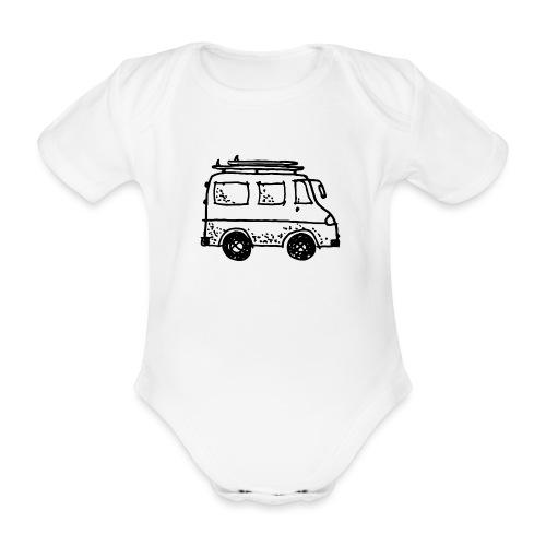 my tiny camper van - Organic Short-sleeved Baby Bodysuit