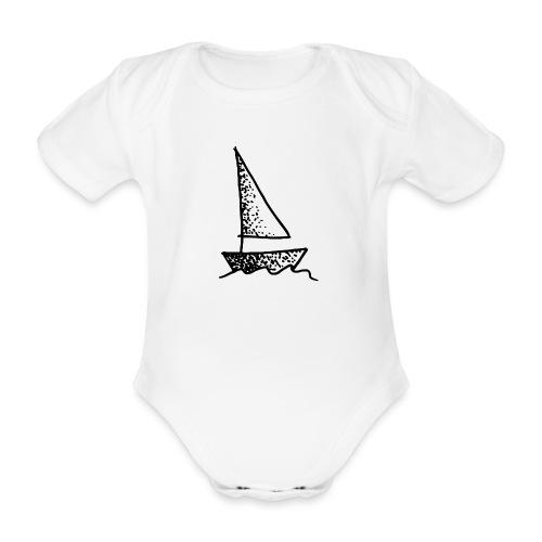 my tiny boat - Organic Short-sleeved Baby Bodysuit