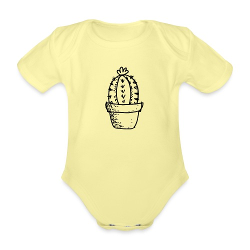 my tiny cactus - Organic Short-sleeved Baby Bodysuit
