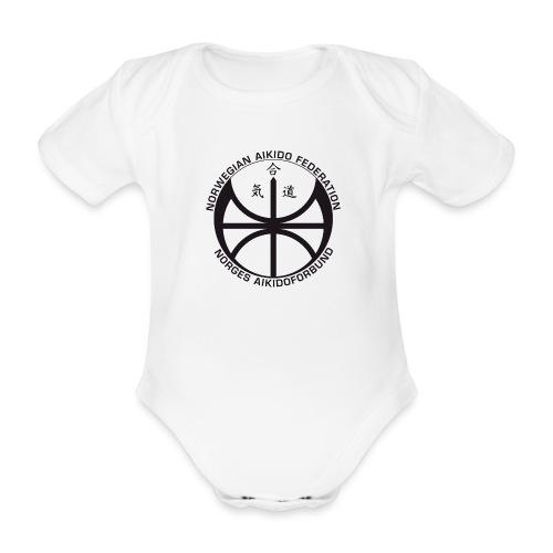 Svart NAF logo - Økologisk kortermet baby-body