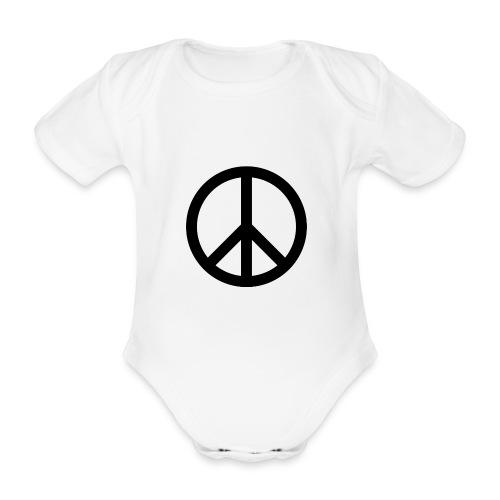 Peace Teken - Baby bio-rompertje met korte mouwen