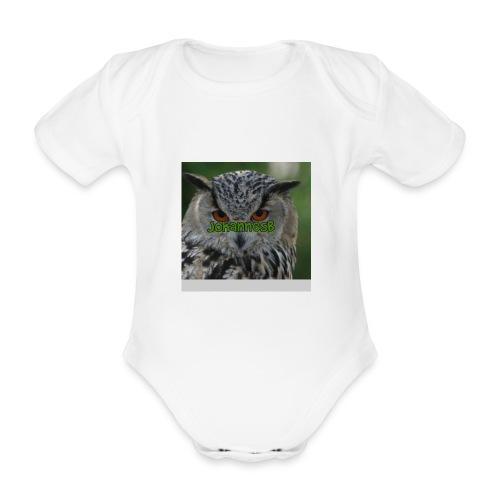 JohannesB lue - Økologisk kortermet baby-body