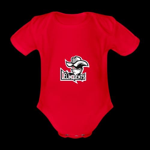 Delinquents Hvidt Design - Kortærmet babybody, økologisk bomuld