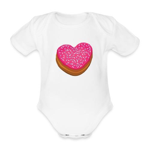 Donitsi - donut - Vauvan lyhythihainen luomu-body