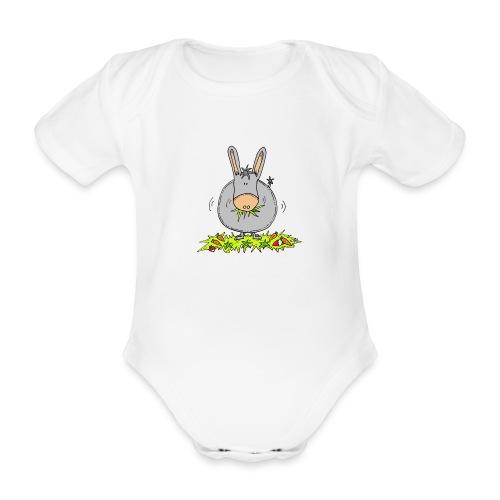 fat donkey trans - Baby bio-rompertje met korte mouwen