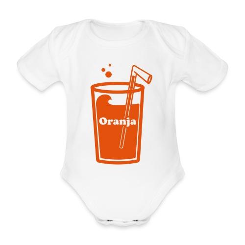 Oranja - Baby bio-rompertje met korte mouwen