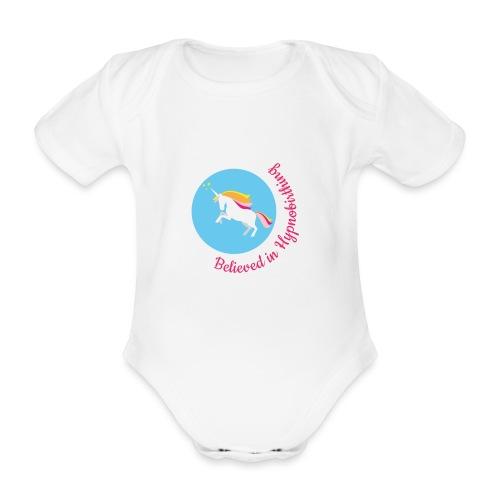 unicorn pink hypnobirth - Organic Short-sleeved Baby Bodysuit