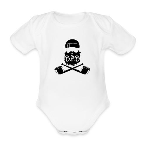 logga svart - Ekologisk kortärmad babybody