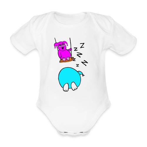 Pöllyskäinen - Vauvan lyhythihainen luomu-body